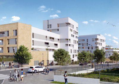 Construction de 104 logements et des commerces à Noisy-le-grand (93)