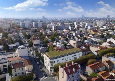 Construction de 36 logements et un commerce à Montreuil (93)