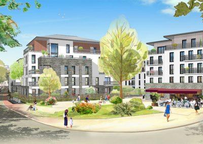 Construction d'une résidence séniors de 61 logements et un commerce à Pontoise (95)