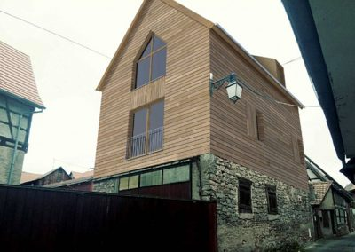 Réhabilitation d'une ancienne grange alsacienne en logement à Dambach-la-Ville (67)